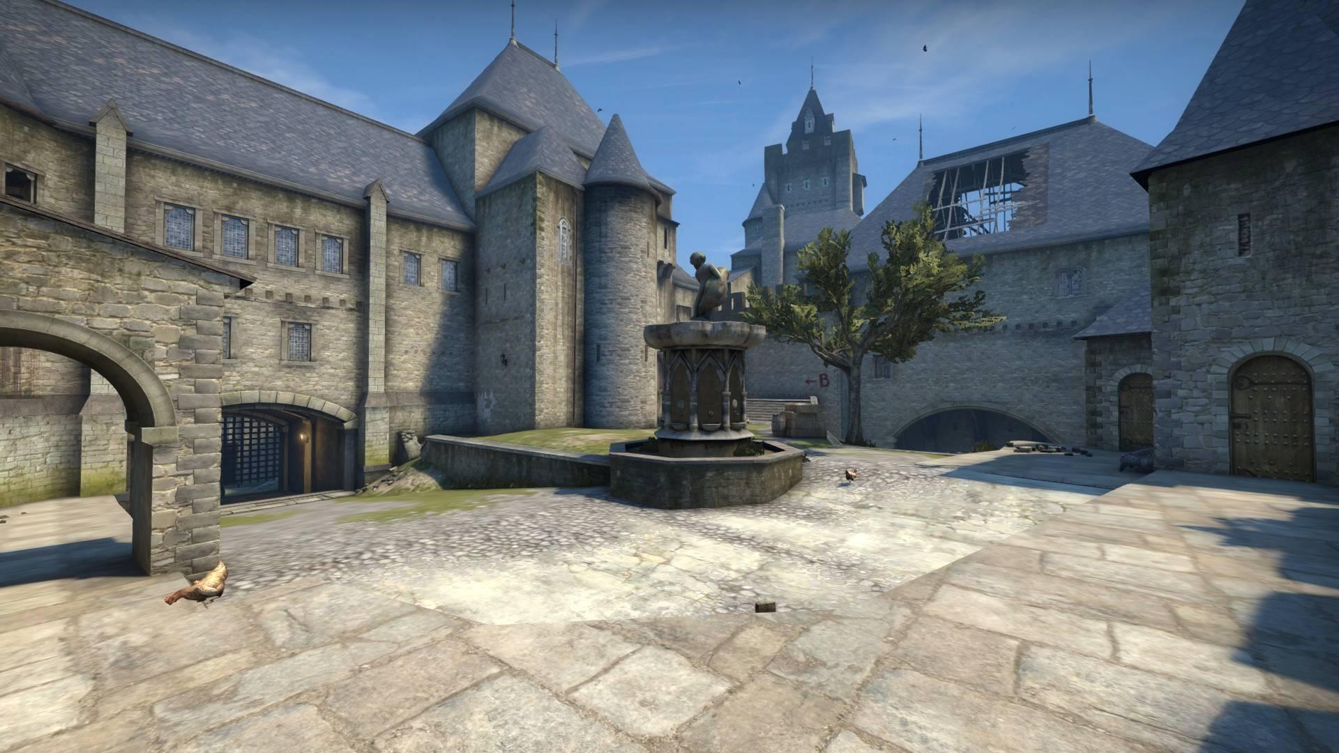 de_cobblestone courtyard