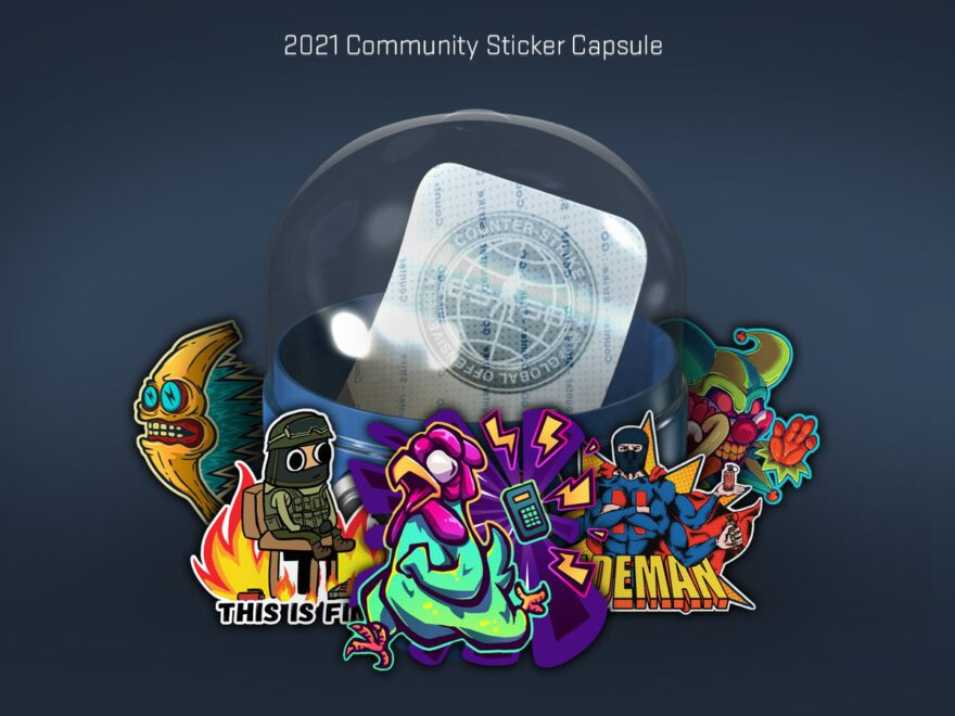 2021 community sticker kapsel